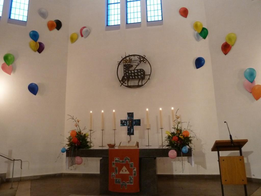 Altar zur Konfirmation 2015
